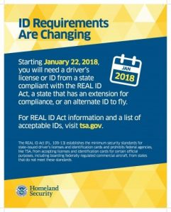 Flying and the REAL ID